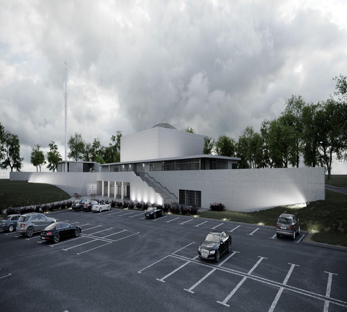 architektur rendering mosque