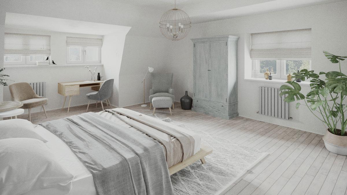 3d interior architektur visualisierungen Hotel room