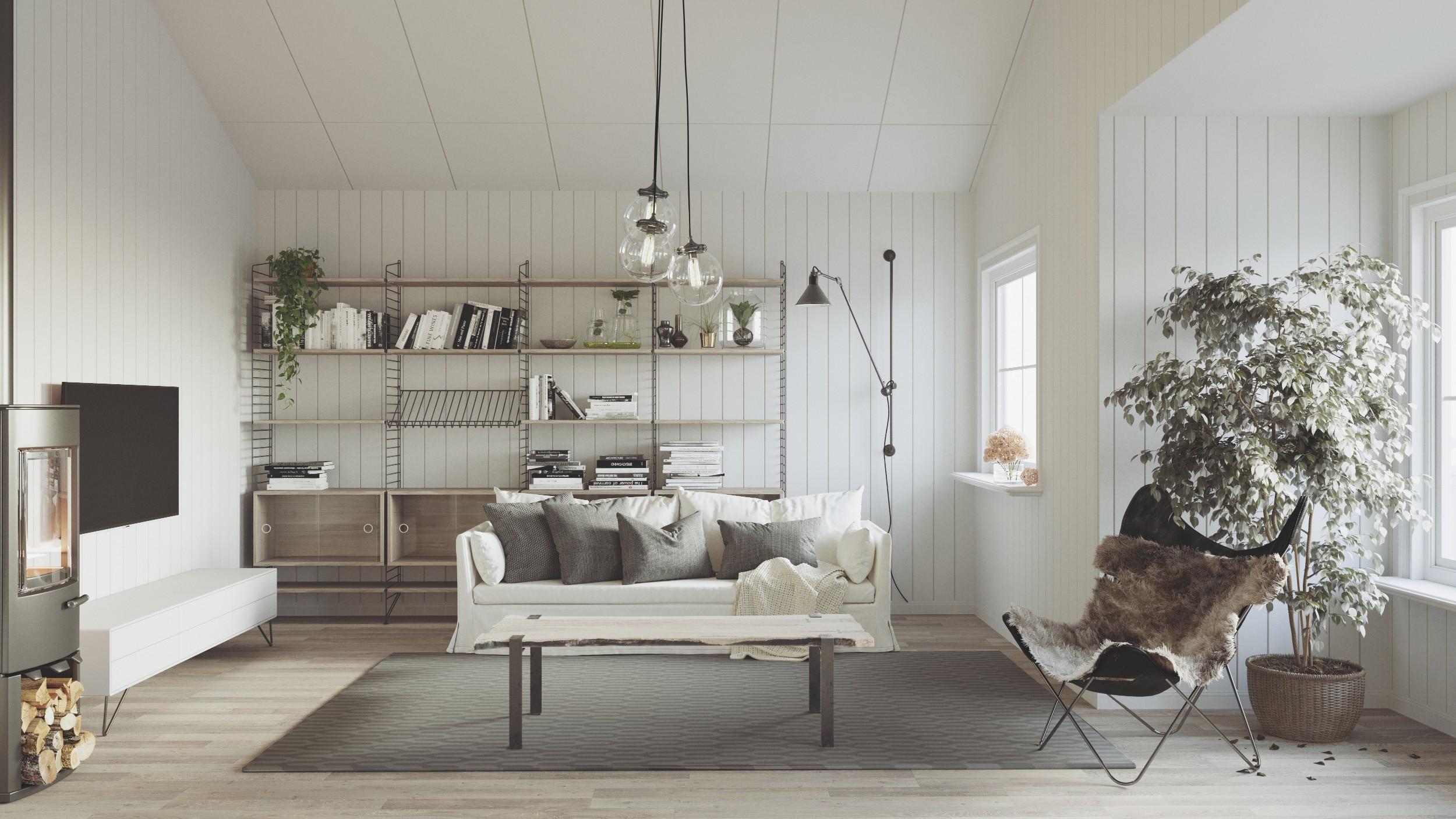 3d interior architekt visualisierung Norwegian Style