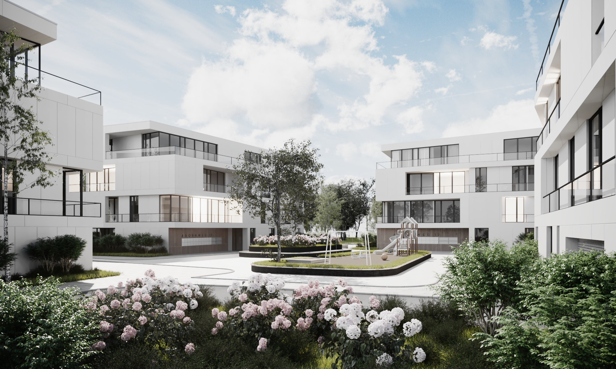 3D exterior of residence place