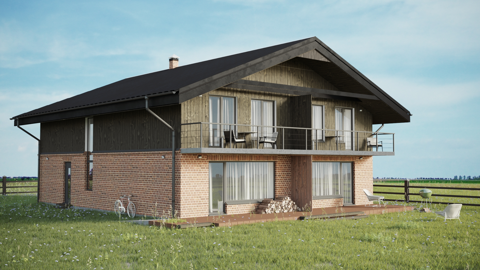 3D visualizations Summer house in Llithuania