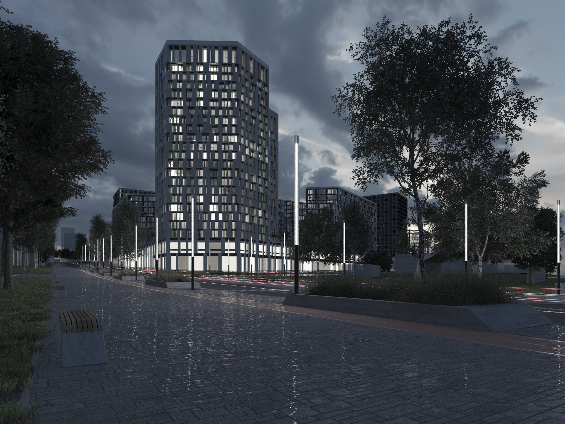 High building in the Netherlands visualization