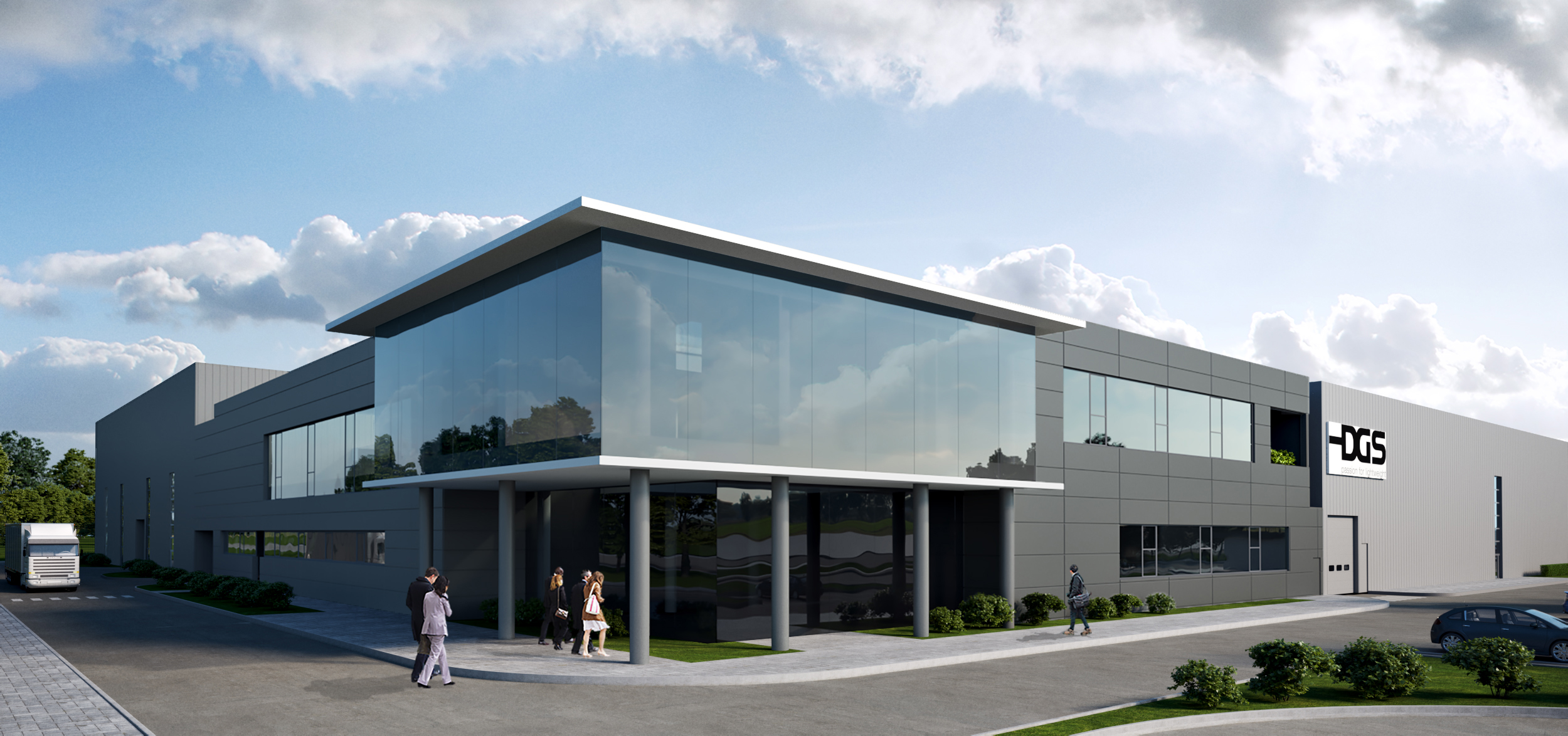 China factory - Exterior visualisierung 3d