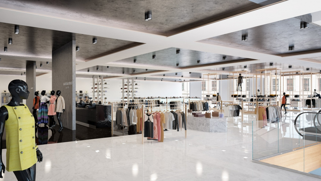 Visualization of Retail and showroom spaces