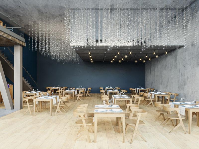 Fish Restaurant - 3D Interior Visualization